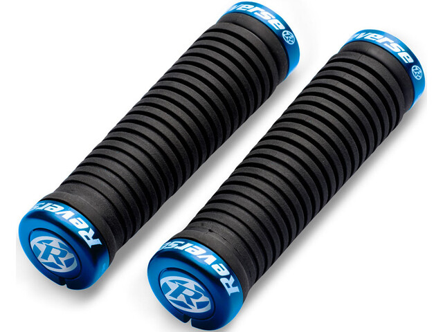 Reverse Taper Grips Ø30mm, black/blue